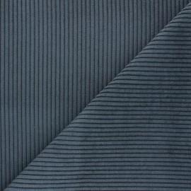 Tissu velours à grosses côtes Lisboa - gris foncé x10cm