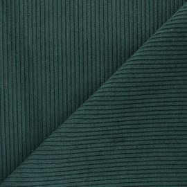 Tissu velours à grosses côtes Lisboa - vert foncé x10cm