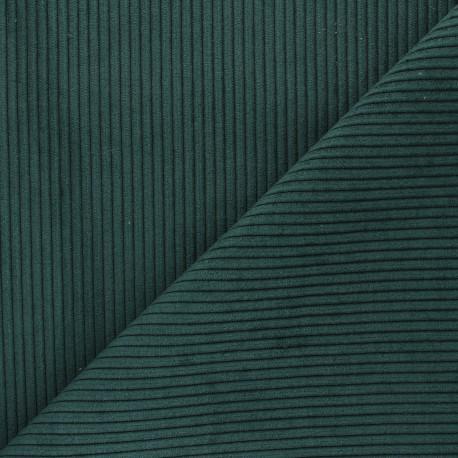 Ribbed velvet fabric - dark green Lisboa x 10cm