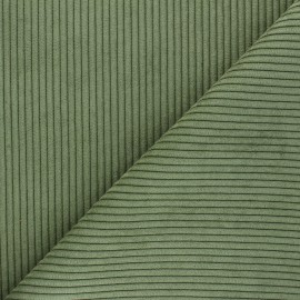 Tissu velours à grosses côtes Lisboa - vert x10cm