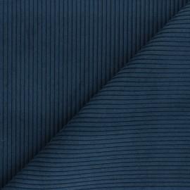 Ribbed velvet fabric - petrol blue Lisboa x 10cm