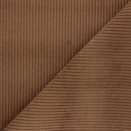 Tissu velours à grosses côtes Lisboa - marron x10cm