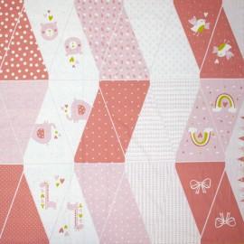 Poppy Flag Garland fabric - pink Baby Garland x 1m