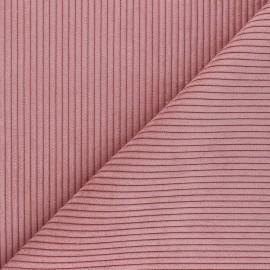 Tissu velours à grosses côtes Lisboa - vieux rose x10cm