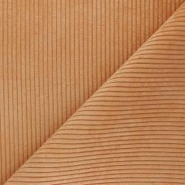 Ribbed velvet fabric - orange Lisboa x 10cm