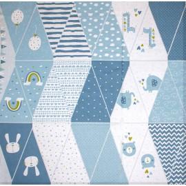 Poppy Flag Garland fabric - blue Baby Garland x 1m