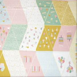 Poppy Flag Garland fabric - multicolor Party Garland x 1m