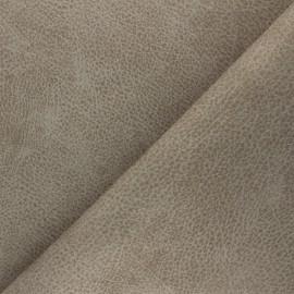 Tissu polyester envers cuir recyclé Pawnee - havane x 10cm