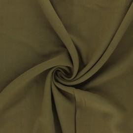 Plain Viscose fabric - olive green Simplicité x 10cm