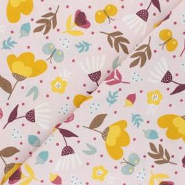 Tissu coton popeline Poppy Flowers - rose x 10cm