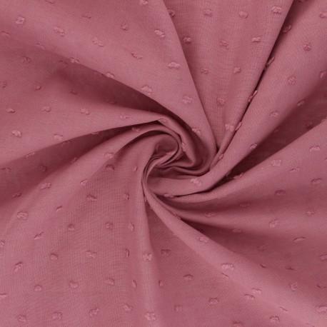 Plumetis Cotton voile Fabric - rosewood pink Délicatesse x 10cm