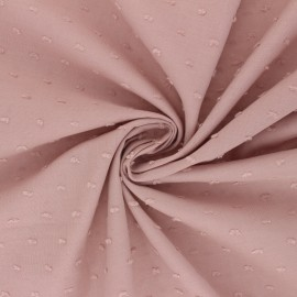 Plumetis Cotton voile Fabric - light pink Délicatesse x 10cm