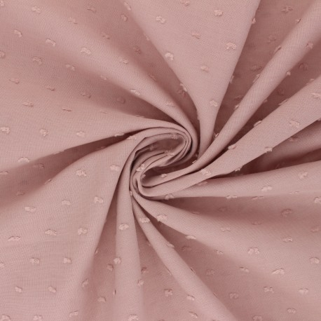 Plumetis Cotton voile Fabric - light pink Délicatesse x 10cm