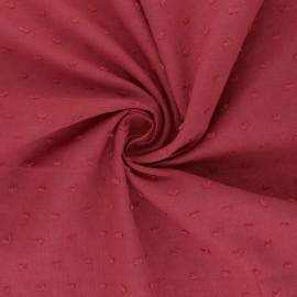 Tissu voile de coton plumetis Délicatesse - grenadine x 10cm