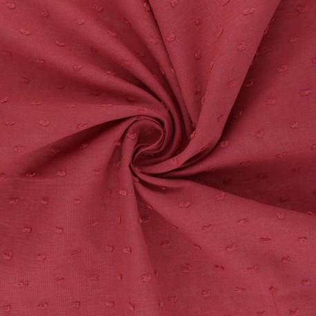 Plumetis Cotton voile Fabric - grenadine pink Délicatesse x 10cm