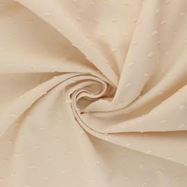 Tissu voile de coton plumetis Délicatesse - nude x 10cm