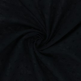 Plumetis Cotton voile Fabric - black Délicatesse x 10cm