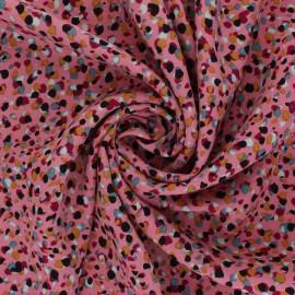 Tissu viscose Saïdia - rose x 10cm