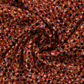 Viscose Fabric - rust red Saïdia x 10cm