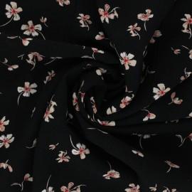Viscose Fabric - black Rosanne x 10cm