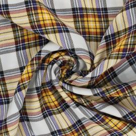Tissu viscose à carreaux Justin - jaune x 10cm