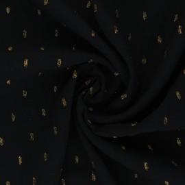 Lurex Viscose fabric - black Théonie x 10cm