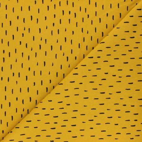 Poppy Jersey fabric - mustard yellow Playfull stripes x 10cm