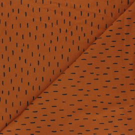Poppy Jersey fabric - ginger Playfull stripes x 10cm