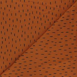 Tissu jersey Poppy Playfull stripes - roux x 10cm