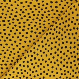 Tissu jersey Poppy Dots - jaune moutarde x 10cm