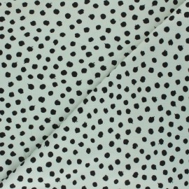 Poppy Jersey fabric - almond green Dots x 10cm