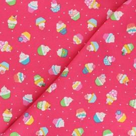 Makower UK Fabric Daydream - fuchsia pink Cupcakes x 10cm