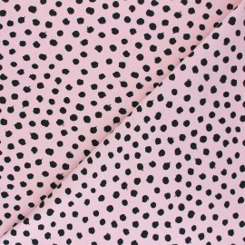 Poppy Jersey fabric - light pink Dots x 10cm