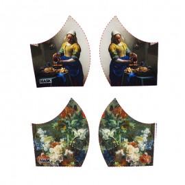 Art mask cotton fabric - Vermeer