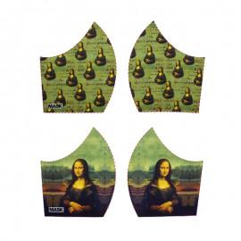 Art mask cotton fabric - De Vinci