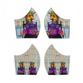 Art mask cotton fabric - Picasso