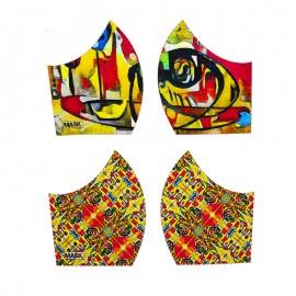 Art mask cotton fabric - Appel