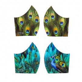 Tissu pour masque Texture - Paon