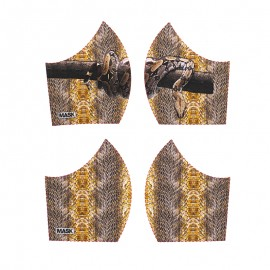 Texture mask cotton fabric - Snake
