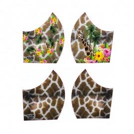 Texture mask cotton fabric - Giraffe