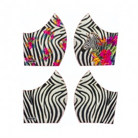 Texture mask cotton fabric - Zebra
