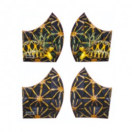 Texture mask cotton fabric - Tortoise
