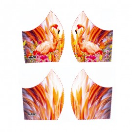Texture mask cotton fabric - Flamingo