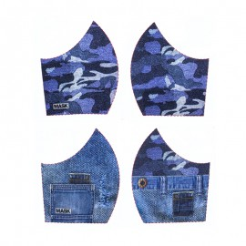 Texture mask cotton fabric - Jeans
