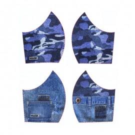 Tissu pour masque Texture - Jeans