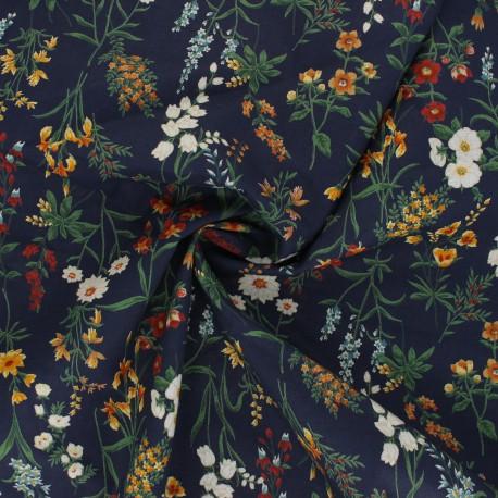 Kokka cotton poplin fabric - navy blue Odelie x 10cm