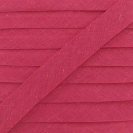 Biais tout textile 20 mm - framboise x 1m