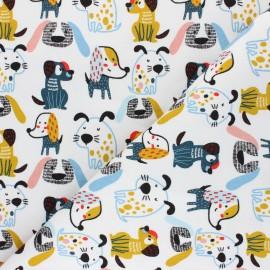 Poppy Sweatshirt fabric - white Sweet Dogs x 10cm
