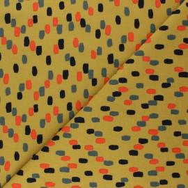 Poppy Sweatshirt fabric - mustard yellow Stripes x 10cm