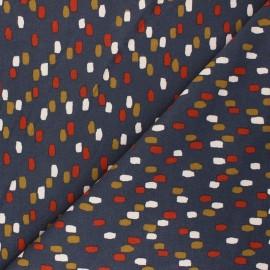 Poppy Sweatshirt fabric - grey Stripes x 10cm